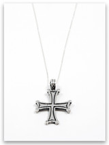 Bethesda Cross Sterling Silver Pendant Necklace