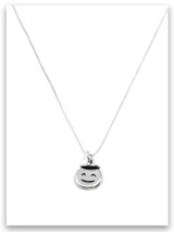 Angel Emoji Sterling Silver Necklace