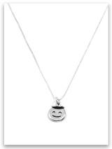 Angel Emoji Sterling Silver Necklace
