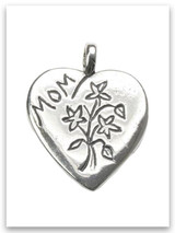 Sterling Silver Mom Pendant