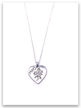 Mom Pendant Sterling Silver Necklace