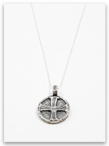 Jesus Wept Sterling Silver Pendant Necklace