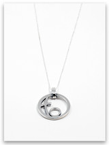 Circle of Love Sterling Silver Mother Pendant Necklace- 1 Child