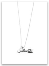 All My Heart Arrow iTAG Sterling Silver Necklace