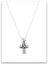 Cross of Hope Sterling Silver Charm Necklace