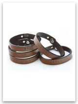 Leather Hand Stamped Bracelets