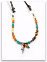 Fly Precious Stones Necklace