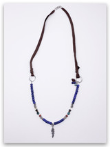 Fly Lapis Deer Leather Necklace
