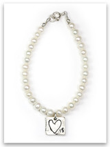 Love Is Pearl & Sterling Silver Children's Bracelet