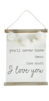 I Love You Canvas Sign