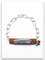Be Courageous Leather Chain  Bracelet