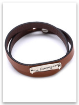 Be Courageous Leather Wrap Bracelet