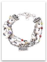 Brave Triple Strand Bracelet