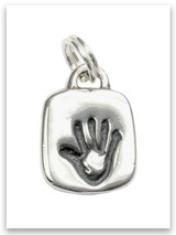 Sterling Silver Chosen Hand Adoption Charm