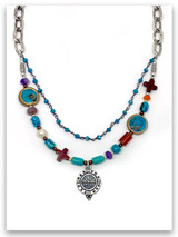 Spirit Lead Me Turquoise-Multi Stone Necklace