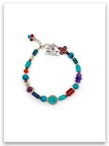 Brave-turq-multi stone bracelet