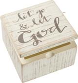 Let Go & Let God Hinged Box