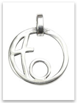 Grandmother's Circle of Love Sterling Silver Pendant (1 Grandchild)
