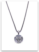 Redeemed Cross  Necklace w/Medium Box Chain