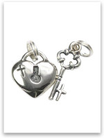 Daddy-Daughter Sterling Silver Charm