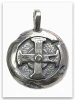 Hoplon Shield Sterling Silver Pendant