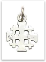 Sterling Silver Jerusalem's Cross Charm