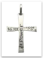Sterling Silver Power of God Cross Pendant