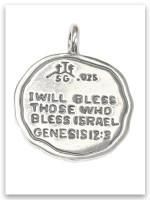 USA Jerusalem Sterling Silver Pendant