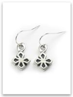 My Strength Sterling Silver Cross Earrings