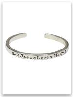 Jesus Loves Me Sterling Silver Infant Bracelet John 3:16