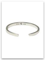 Jesus Loves Me Sterling Silver Infant Bracelet John 3:16 (back)