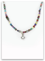 Stones Cry Out My Strength Cross Necklace
