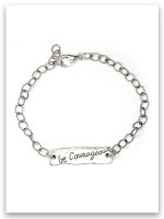 Be Courageous Sterling Silver Link Bracelet