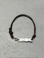 Be Courageous Leather Bracelet (Back)