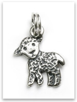 Lamb Sterling Silver Charm