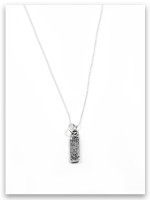 Faith iTAG Sterling Silver Necklace