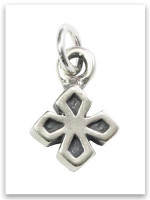My Strength Cross Sterling Silver iTAG Charm