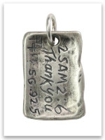 Touched My Life Sterling Silver iTAG Charm