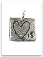Love Is Sterling Silver Charm