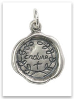Endure Sterling  Silver iTAG Charm