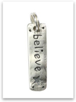 Sterling Silver Believe Charm