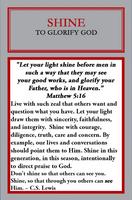 Shine Charm Message Card