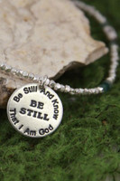 Be Still Hammered Silver Necklace