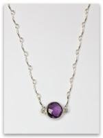 Amethyst-Gad Twelve Tribes Necklace
