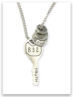 Key to Life Necklace with Key and Truths