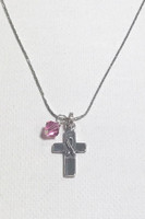 Cross of Hope Pink Warrior Necklace