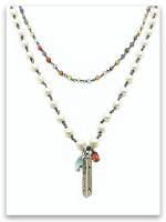 I Will Rise Pearl and Semi-Precious Stone Necklace