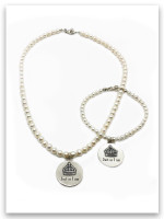 Just As I Am Pearl Bracelet and shown with matching necklace sold separately.
