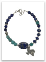 Texas Blue Lapis and Turquoise Bracelet