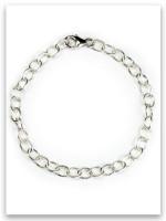 Medium weight Sterling Silver Story Link Charm Bracelet